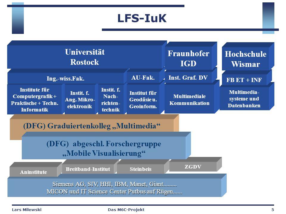 Lars MilewskiDas M6C-Projekt5 LFS-IuK Institute für Computergrafik + Praktische + Techn.