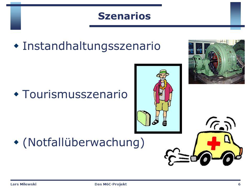 Lars MilewskiDas M6C-Projekt6 Szenarios  Instandhaltungsszenario  Tourismusszenario  (Notfallüberwachung)