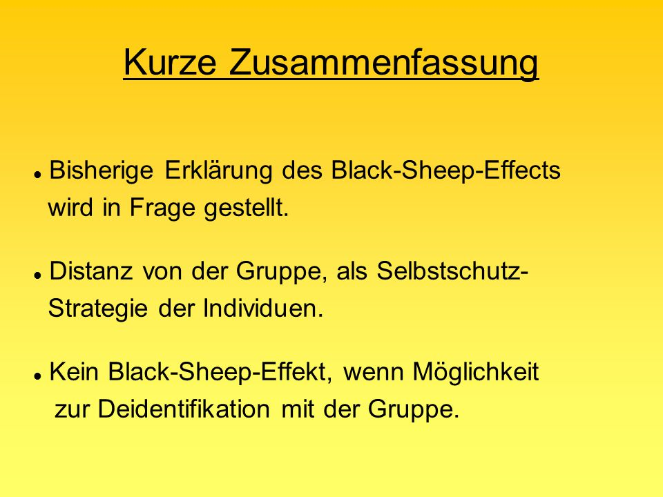 "3. ""Derogating black sheep: Individual or group protection?"" Verfasser: Scott Eidelman and Monica Biernat Erschienen: 2003 im Journal of Experimental"