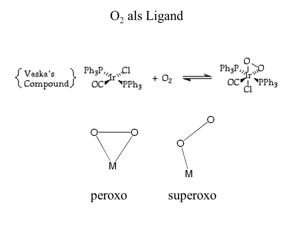 O 2 als Ligand peroxosuperoxo