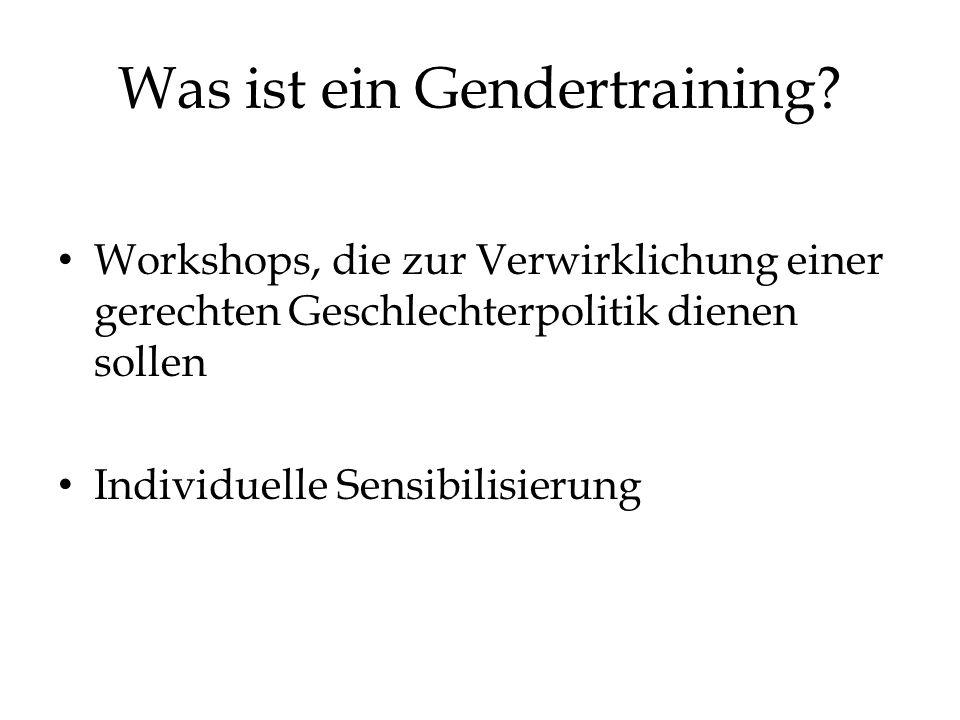 Was ist ein Gendertraining.