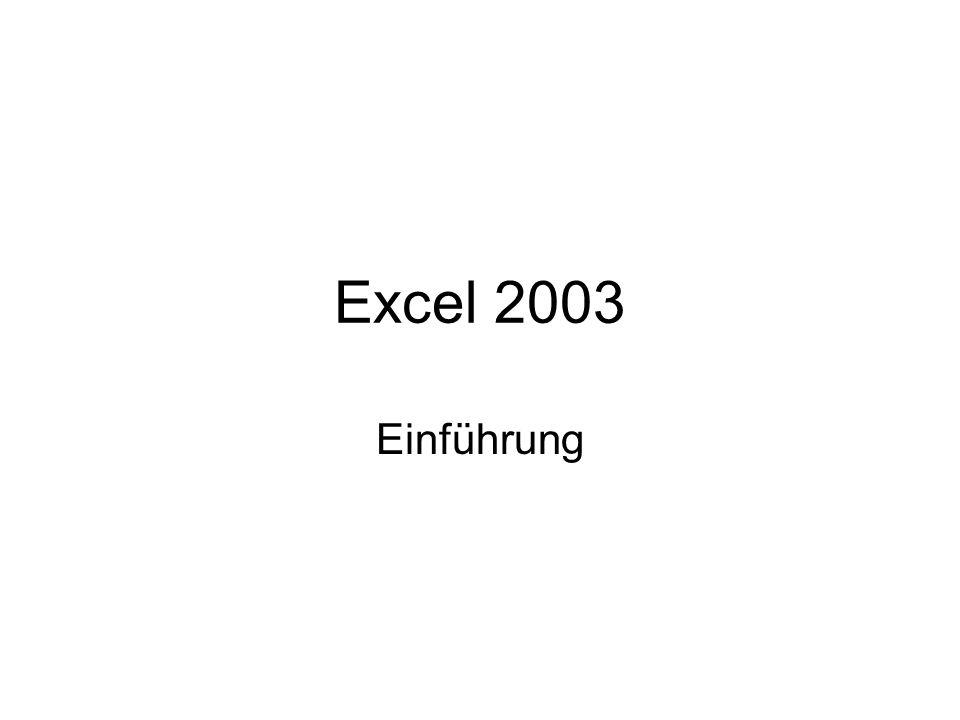 Excel 2003 Einführung