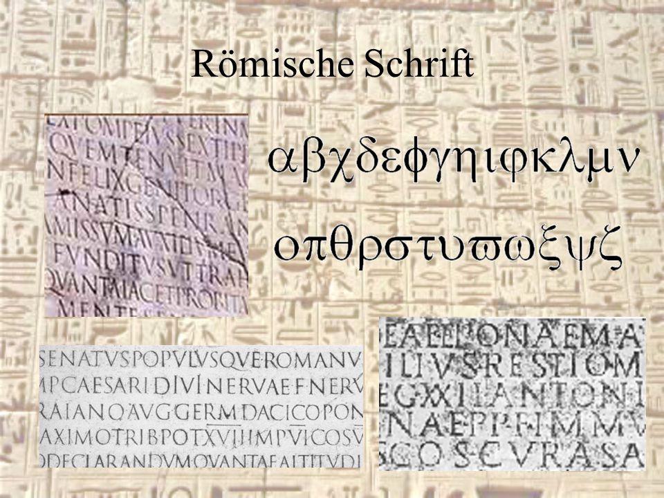 Römische Schrift