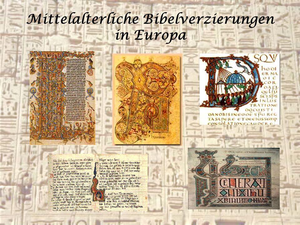 Mittelalterliche Bibelverzierungen in Europa