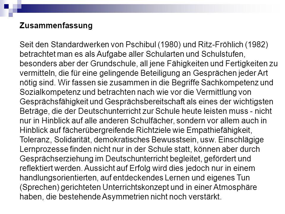 Zusammenfassung Seit den Standardwerken von Pschibul (1980) und Ritz-Fröhlich (1982) betrachtet man es als Aufgabe aller Schularten und Schulstufen, b