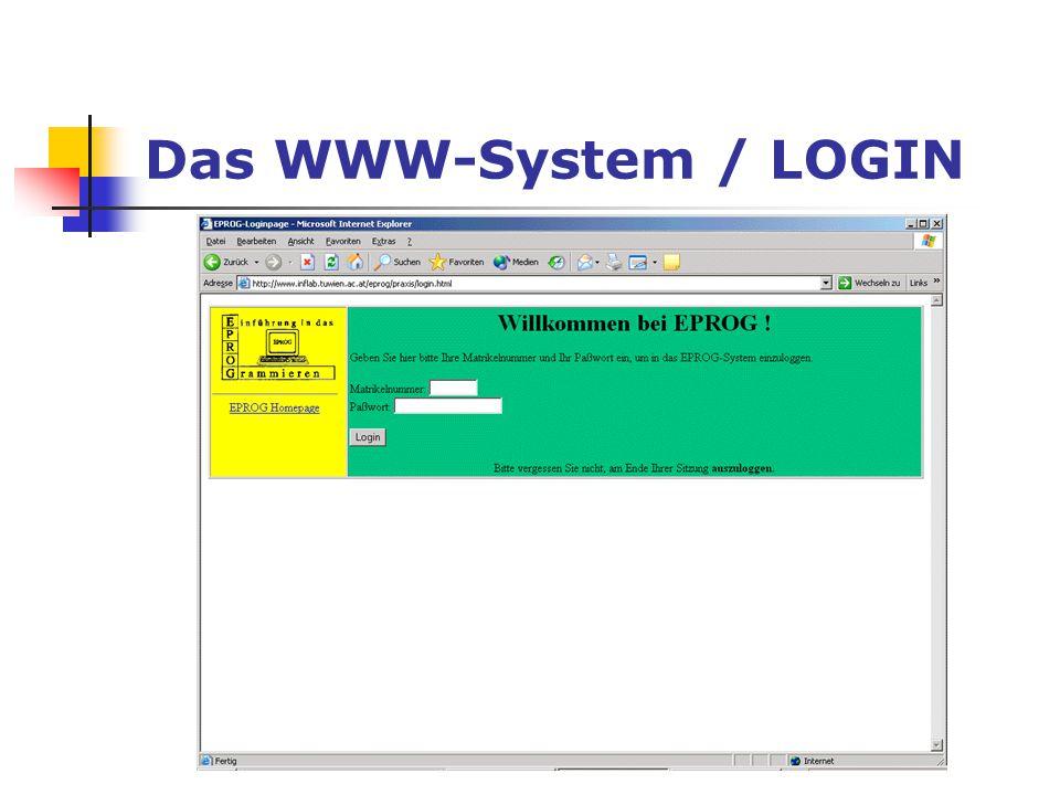 Das WWW-System / LOGIN