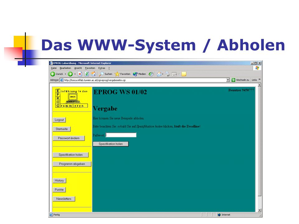 Das WWW-System / Abholen