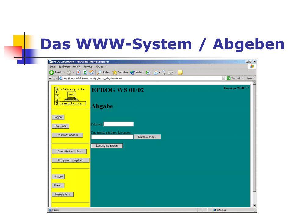 Das WWW-System / Abgeben
