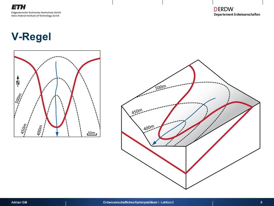 Adrian Gilli8Erdwissenschaftliches Kartenpraktikum I - Lektion 2 V-Regel