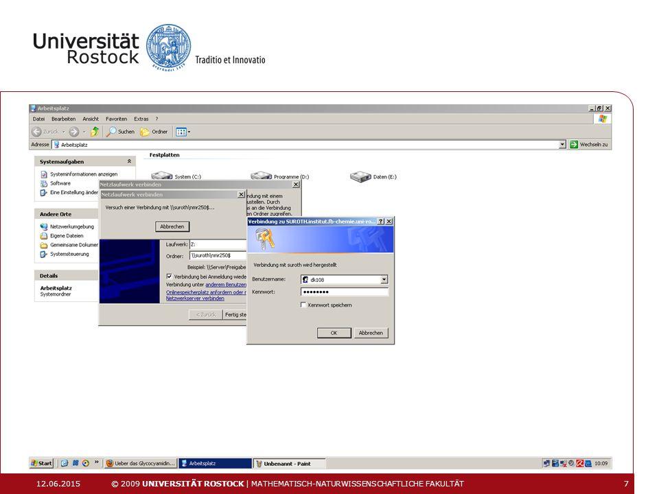 12.06.2015 © 2009 UNIVERSITÄT ROSTOCK | MATHEMATISCH-NATURWISSENSCHAFTLICHE FAKULTÄT 8