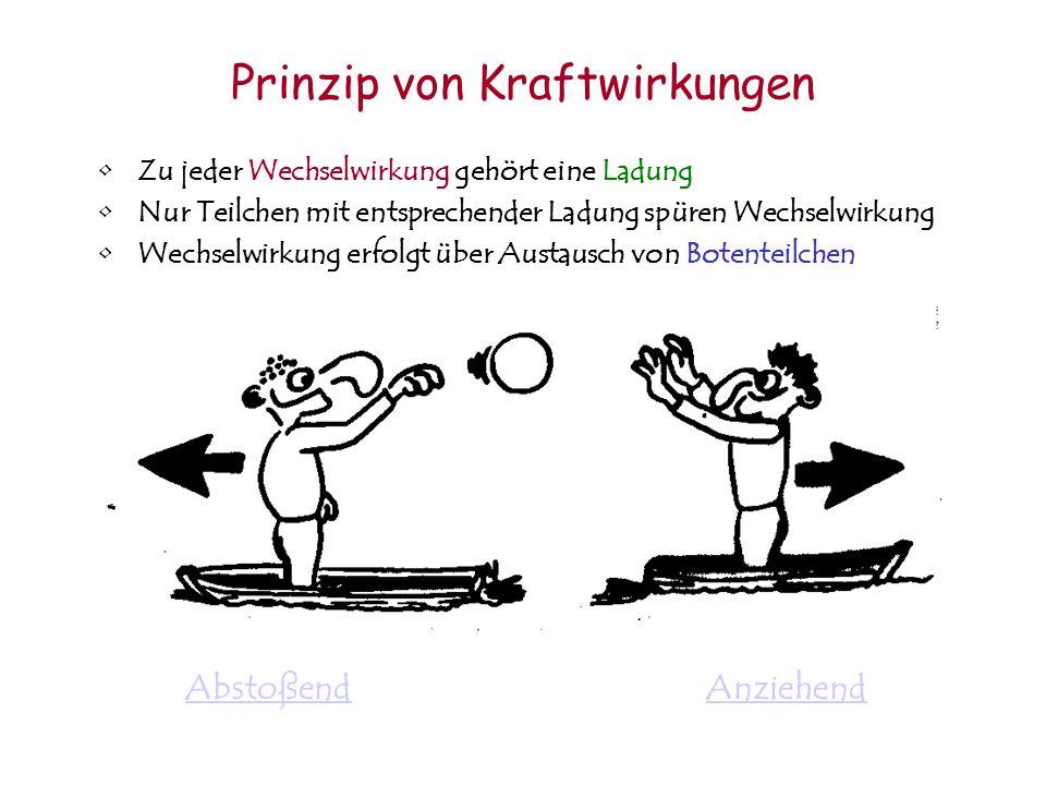Wechselwirkung: –Kraftwirkung zwischen Teilchen –Verantwortlich für Teilchen-Zerfälle und Produktion 4 fundamentale Wechselwirkungen –Gravitation (Sch