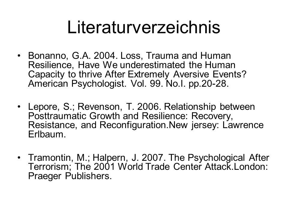 Literaturverzeichnis Bonanno, G.A. 2004.