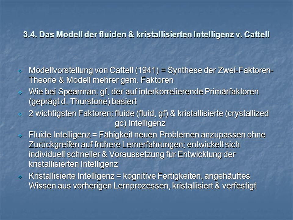 3.4.Das Modell der fluiden & kristallisierten Intelligenz v.