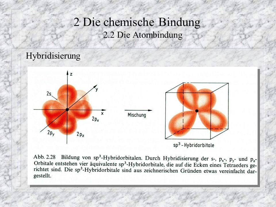 2 Die chemische Bindung 2.2 Die Atombindung Hybridisierung