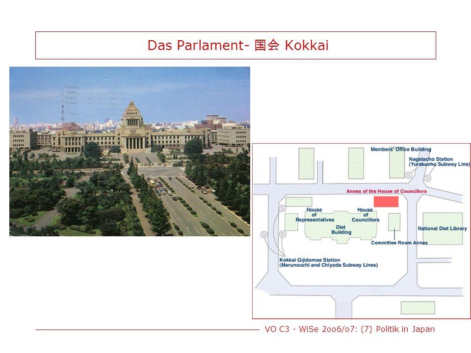 VO C3 - WiSe 2oo6/o7: (7) Politik in Japan Das Parlament- 国会 Kokkai
