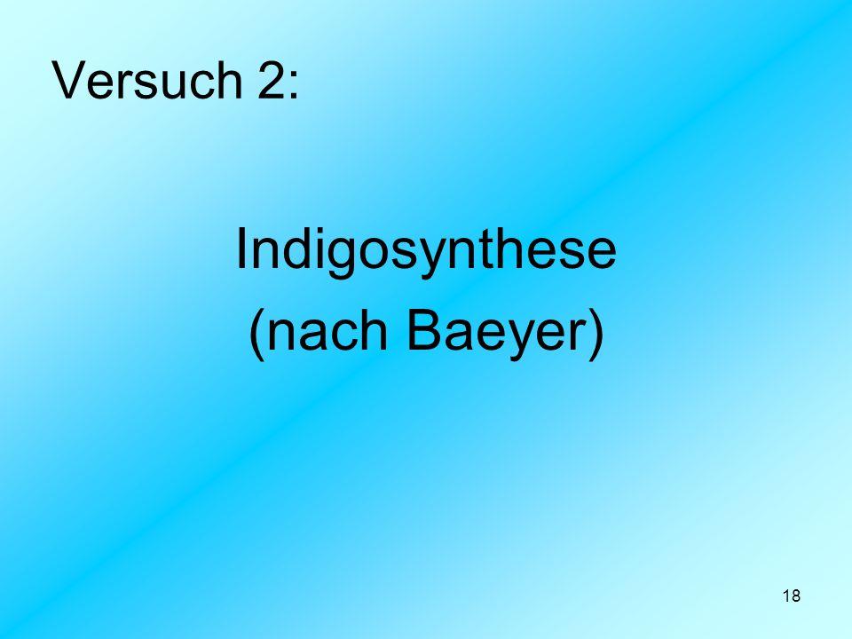 18 Versuch 2: Indigosynthese (nach Baeyer)