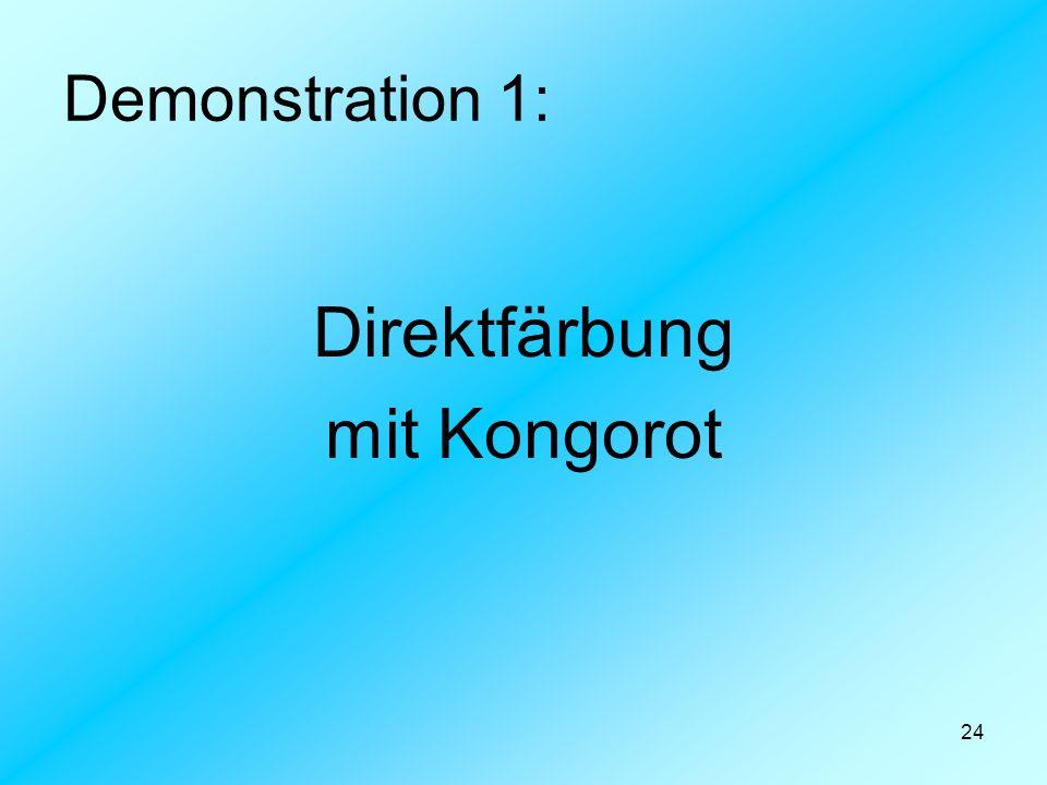 24 Demonstration 1: Direktfärbung mit Kongorot