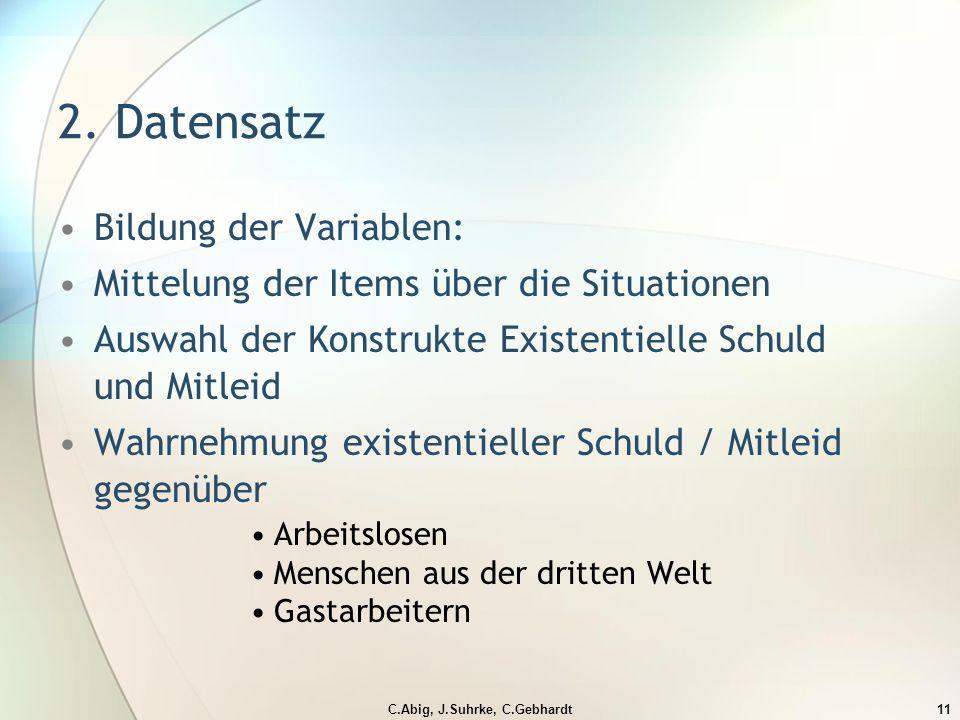 C.Abig, J.Suhrke, C.Gebhardt11 2.