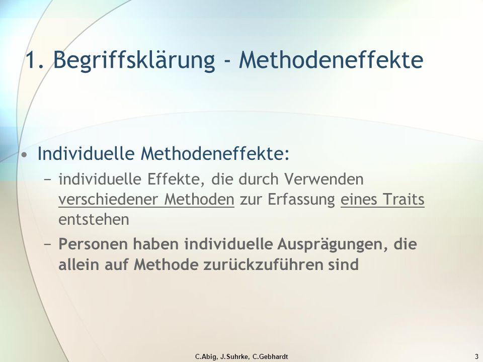 C.Abig, J.Suhrke, C.Gebhardt3 1.