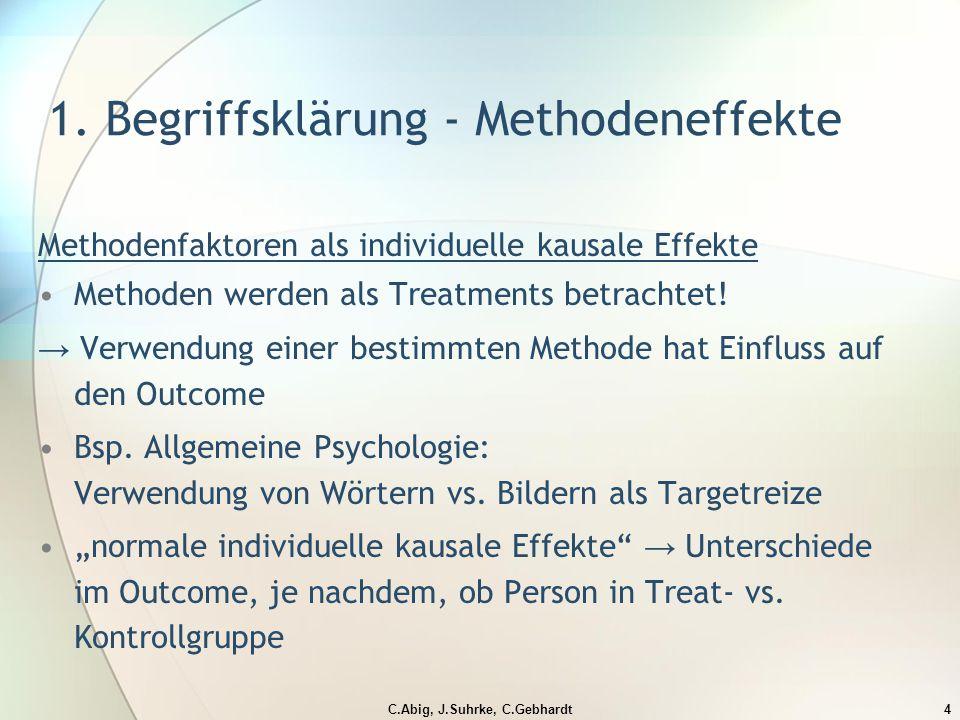 C.Abig, J.Suhrke, C.Gebhardt4 1.