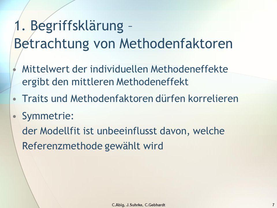 C.Abig, J.Suhrke, C.Gebhardt7 1.