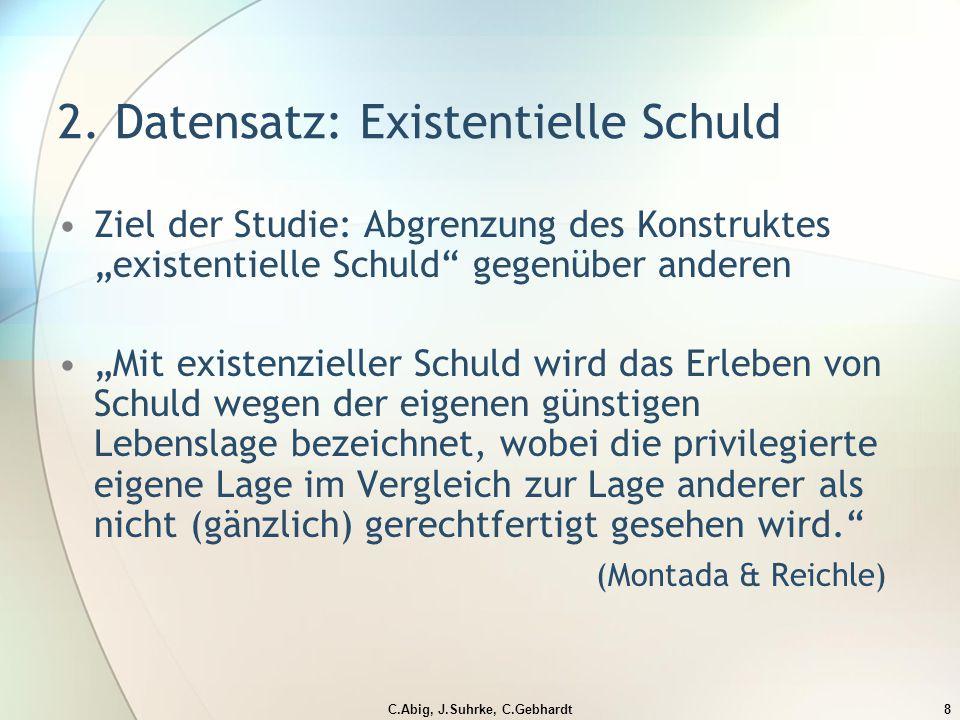 C.Abig, J.Suhrke, C.Gebhardt8 2.