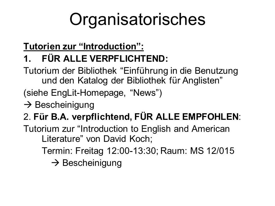 Organisatorisches Weitere Voraussetzungen zum Scheinerwerb: Nicht mehr als 2x fehlen.