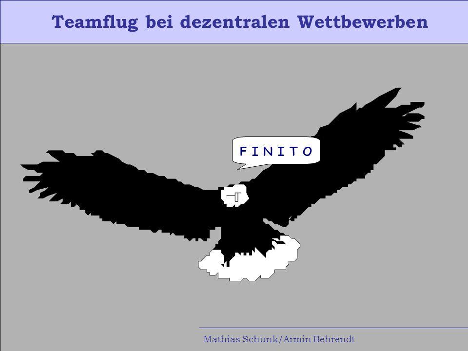 Teamflug bei dezentralen Wettbewerben Mathias Schunk/Armin Behrendt F I N I T O
