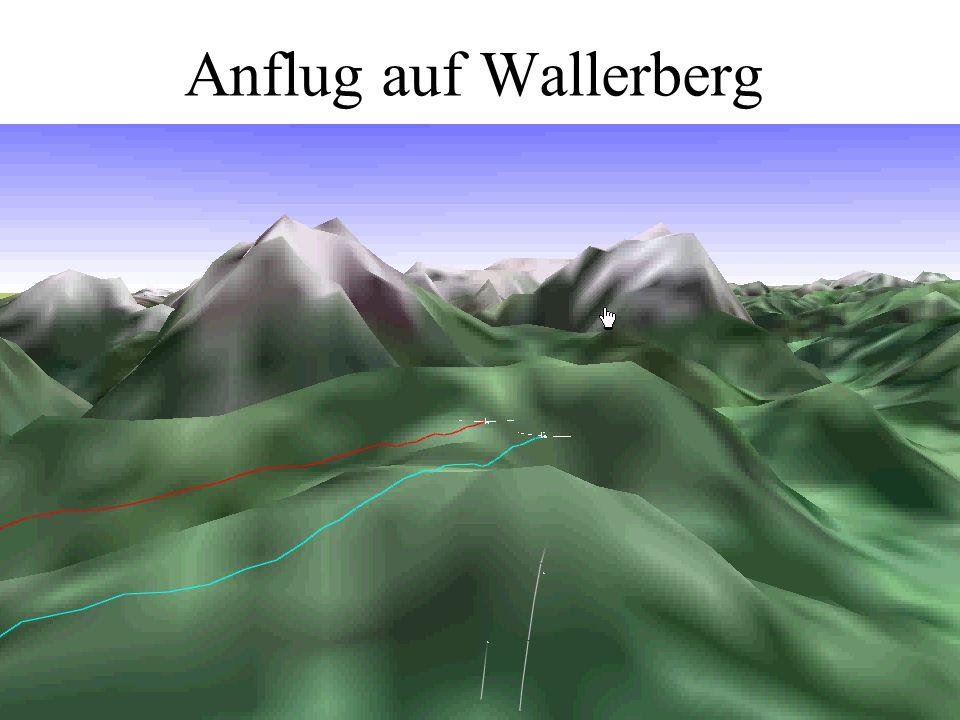 Anflug auf Wallerberg