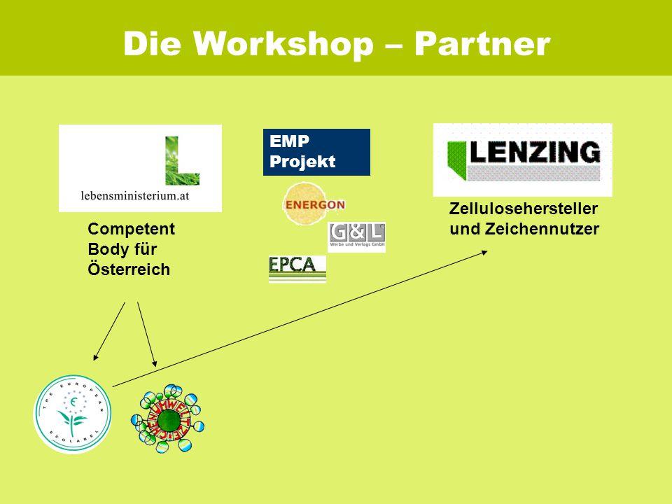Die Workshop – Partner Zellulosehersteller und Zeichennutzer EMP Projekt Competent Body für Österreich