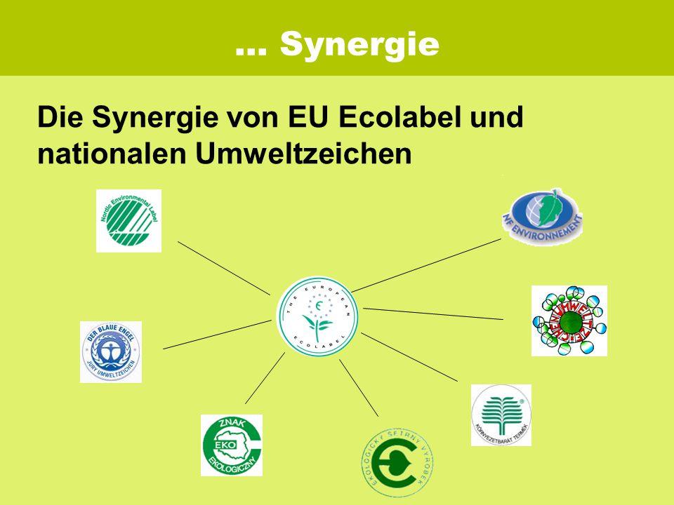 … Synergie Die Synergie von EU Ecolabel und nationalen Umweltzeichen