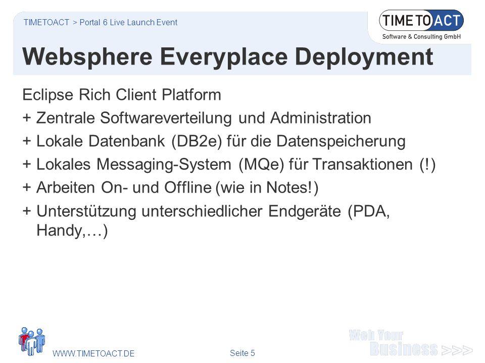 WWW.TIMETOACT.DE Seite 6 Websphere Everyplace Deployment #2