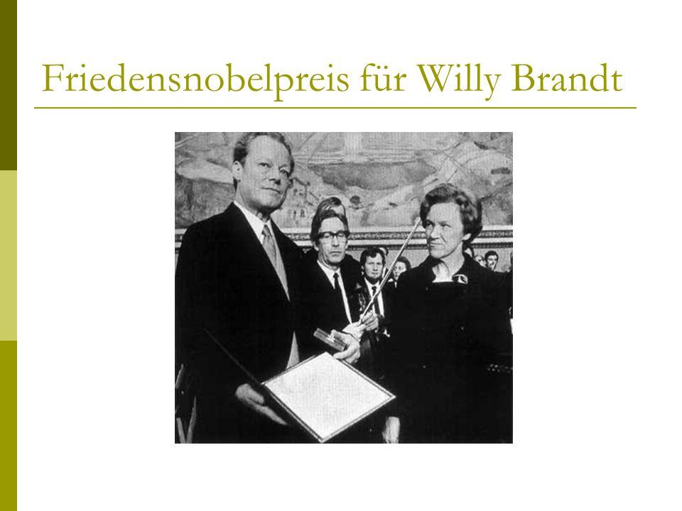 Friedensnobelpreis für Willy Brandt