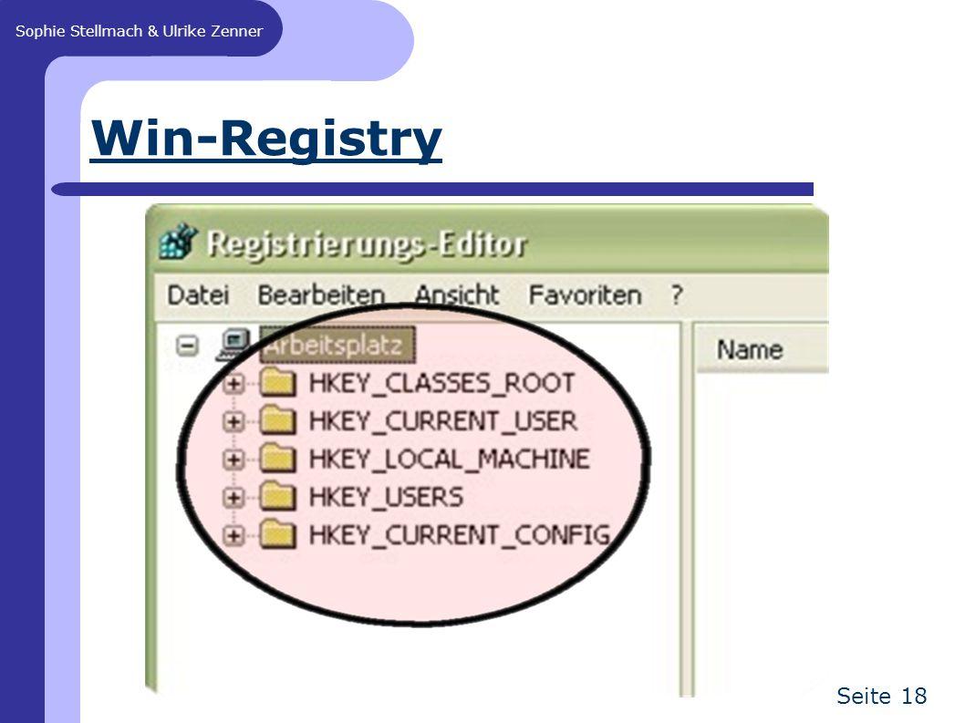 Sophie Stellmach & Ulrike Zenner Seite 18 Win-Registry