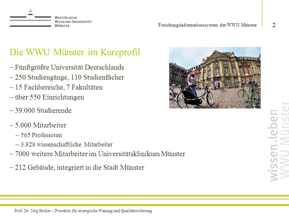  Fünftgrößte Universität Deutschlands  250 Studiengänge, 110 Studienfächer  15 Fachbereiche, 7 Fakultäten  über 550 Einrichtungen  39.000 Studier