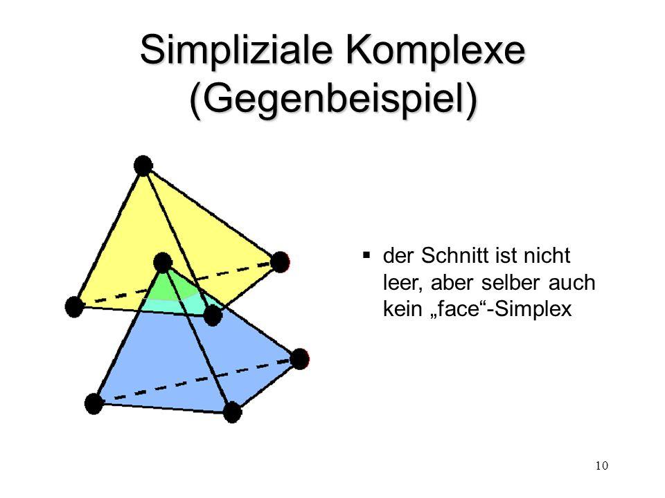 """10 Simpliziale Komplexe (Gegenbeispiel)  der Schnitt ist nicht leer, aber selber auch kein """"face""""-Simplex"""