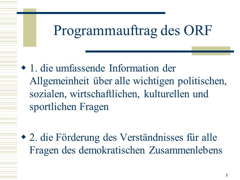 5 Programmauftrag des ORF  1.