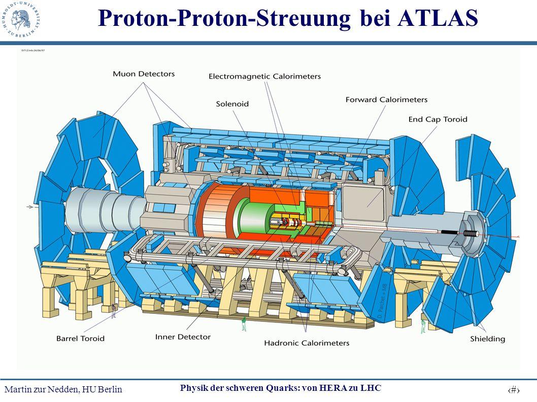 Martin zur Nedden, HU Berlin 26 Physik der schweren Quarks: von HERA zu LHC Proton-Proton-Streuung bei ATLAS