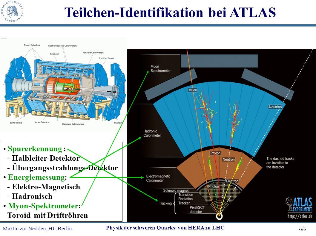 Martin zur Nedden, HU Berlin 27 Physik der schweren Quarks: von HERA zu LHC Teilchen-Identifikation bei ATLAS Spurerkennung : - Halbleiter-Detektor -