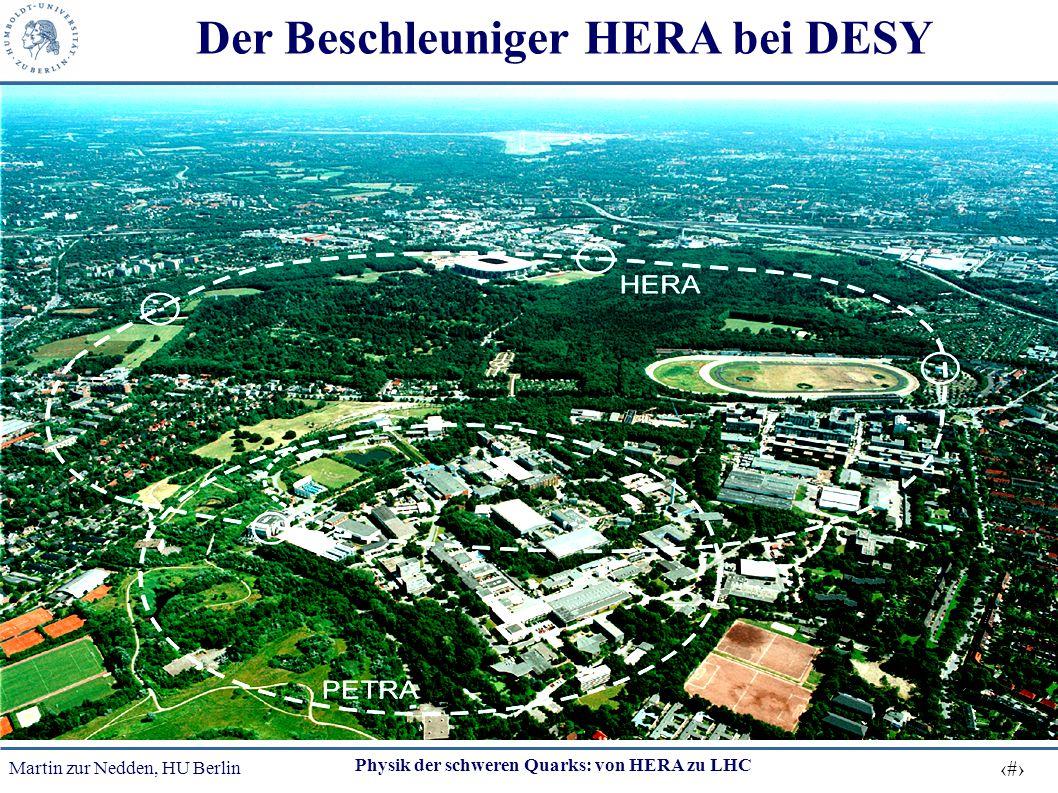 Martin zur Nedden, HU Berlin 8 Physik der schweren Quarks: von HERA zu LHC Der Beschleuniger HERA bei DESY