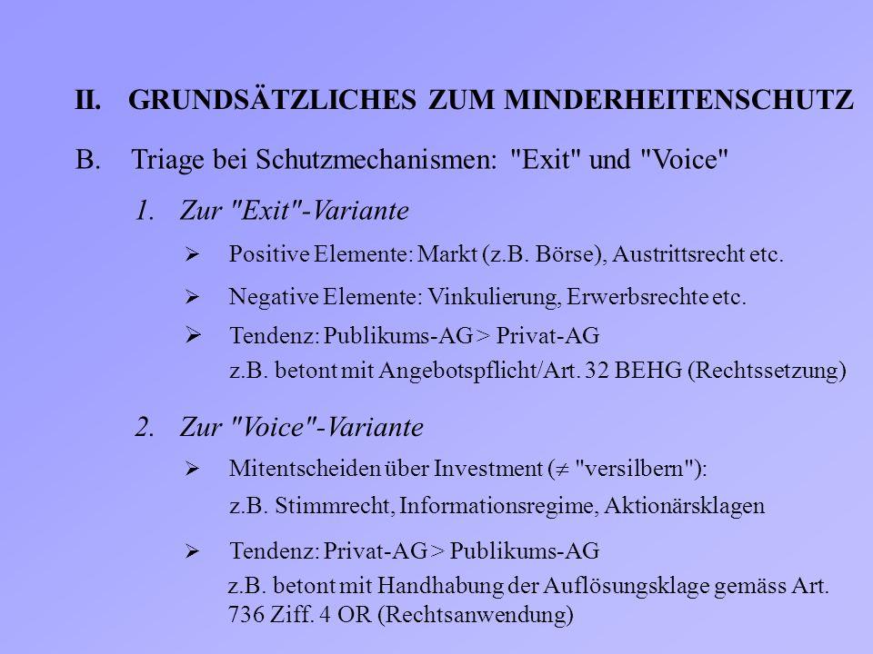 II.GRUNDSÄTZLICHES ZUM MINDERHEITENSCHUTZ B.Triage bei Schutzmechanismen: