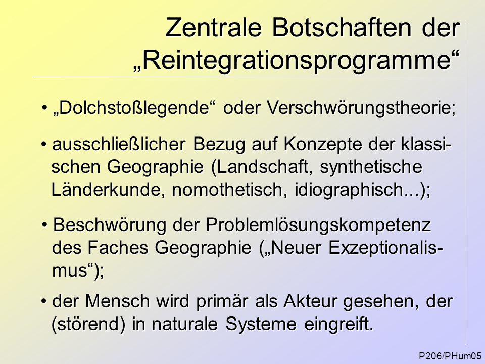 """Zentrale Botschaften der """"Reintegrationsprogramme"""" P206/PHum05 """"Dolchstoßlegende"""" oder Verschwörungstheorie; """"Dolchstoßlegende"""" oder Verschwörungstheo"""