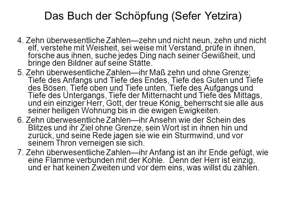Das Buch der Schöpfung (Sefer Yetzira) 4.