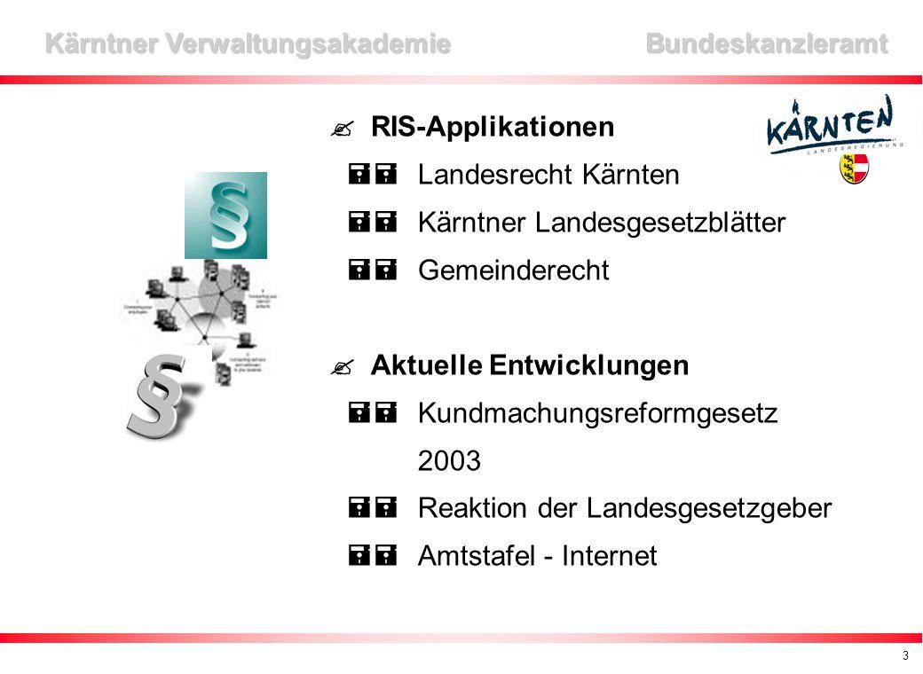14 Kärntner Verwaltungsakademie Bundeskanzleramt Kontakte Kärntner Verwaltungsakademie Dr.