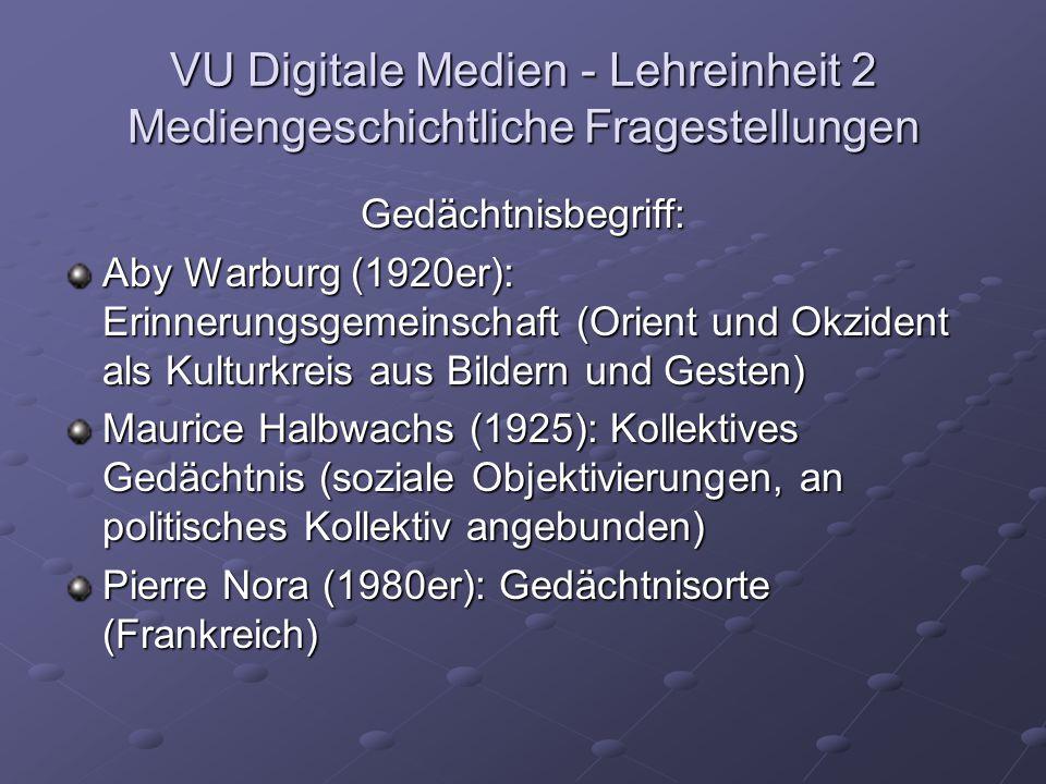 VU Digitale Medien - Lehreinheit 3 Mediengeschichtliche Fragestellungen Intranet/Internet/www Lexika oder Enzyklopädien virtuelle Lernobjekte www.pastperfect.at www.pastperfect.at www.pastperfect.at