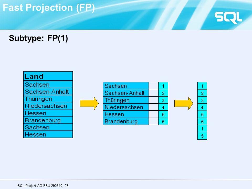 SQL Projekt AG FSU 290610, 28 Fast Projection (FP) Subtype: FP(1)