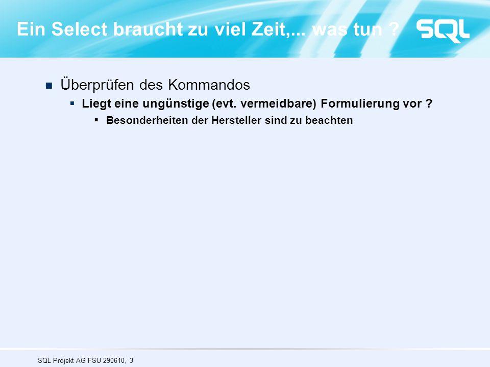 SQL Projekt AG FSU 290610, 54 Workload: Each user executing random sequence of (TPC/H-like) queries (Source : HP Lab in San Bruno, CA) 80 120 160 200 240 280 320 360 40 400 0 100 200 300 400 500 12345678910 Knoten 31 sec 31.6 sec 400 User Antw-Zeit = 31.6 sec Erhöhung : 1.9% (0.6 sec) Anwender 40 User Antw-Zeit: 31 sec Users 98% Sybase IQ Multiplex Test der Skalierfähigkeit Nachgewiesen im Labor und bei Kunden Skalierbarkeit