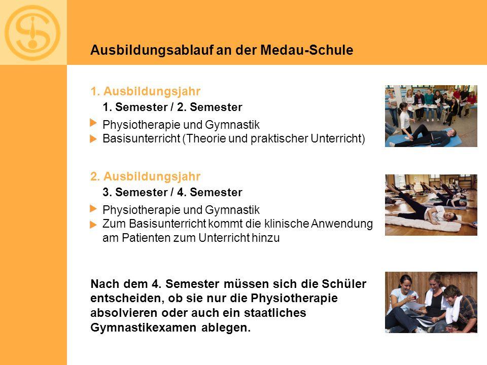 Ausbildungsablauf an der Medau-Schule 1. Ausbildungsjahr 2.