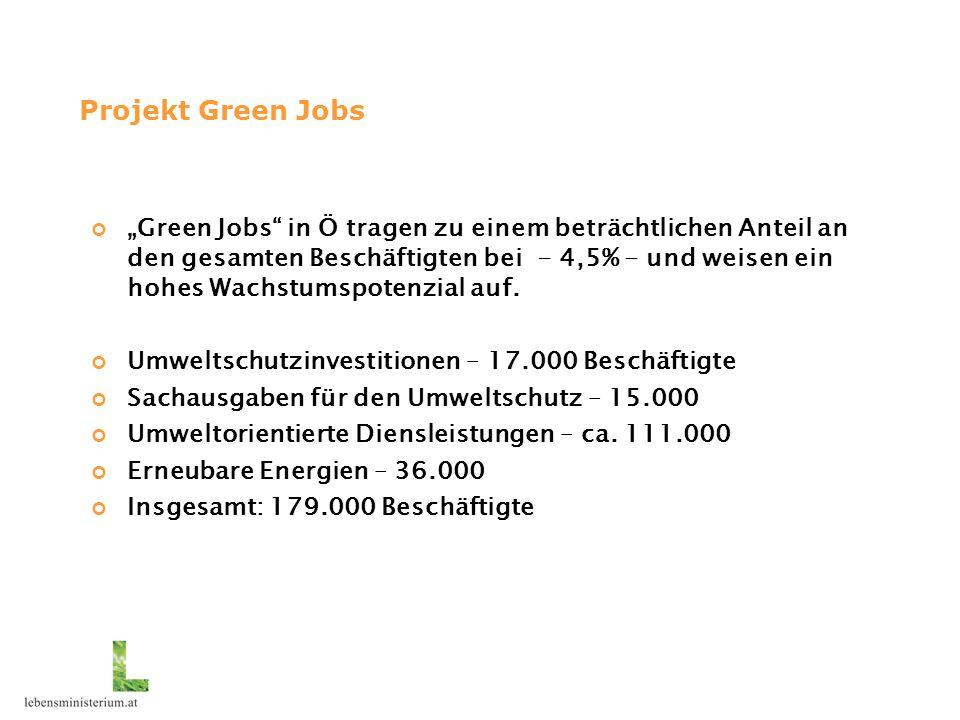 """""""Green Jobs in Ö tragen zu einem beträchtlichen Anteil an den gesamten Beschäftigten bei - 4,5% - und weisen ein hohes Wachstumspotenzial auf."""