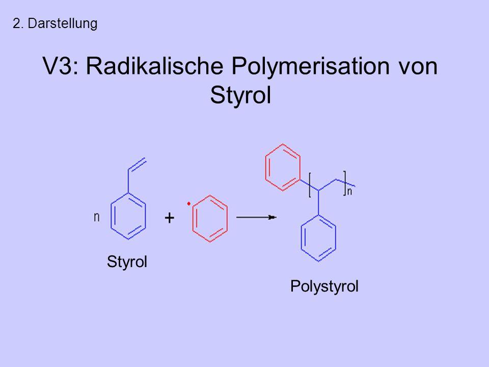V3: Radikalische Polymerisation von Styrol 2. Darstellung Styrol Polystyrol